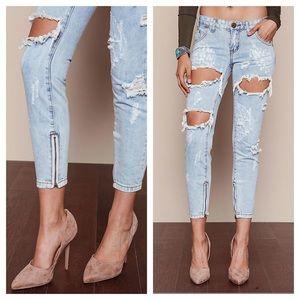 NWT one teaspoon saint trash freebird ankle jeans